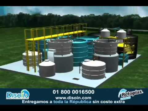 Planta de tratamiento de agua residual con equipo rotoplas - Tratamiento de agua ...