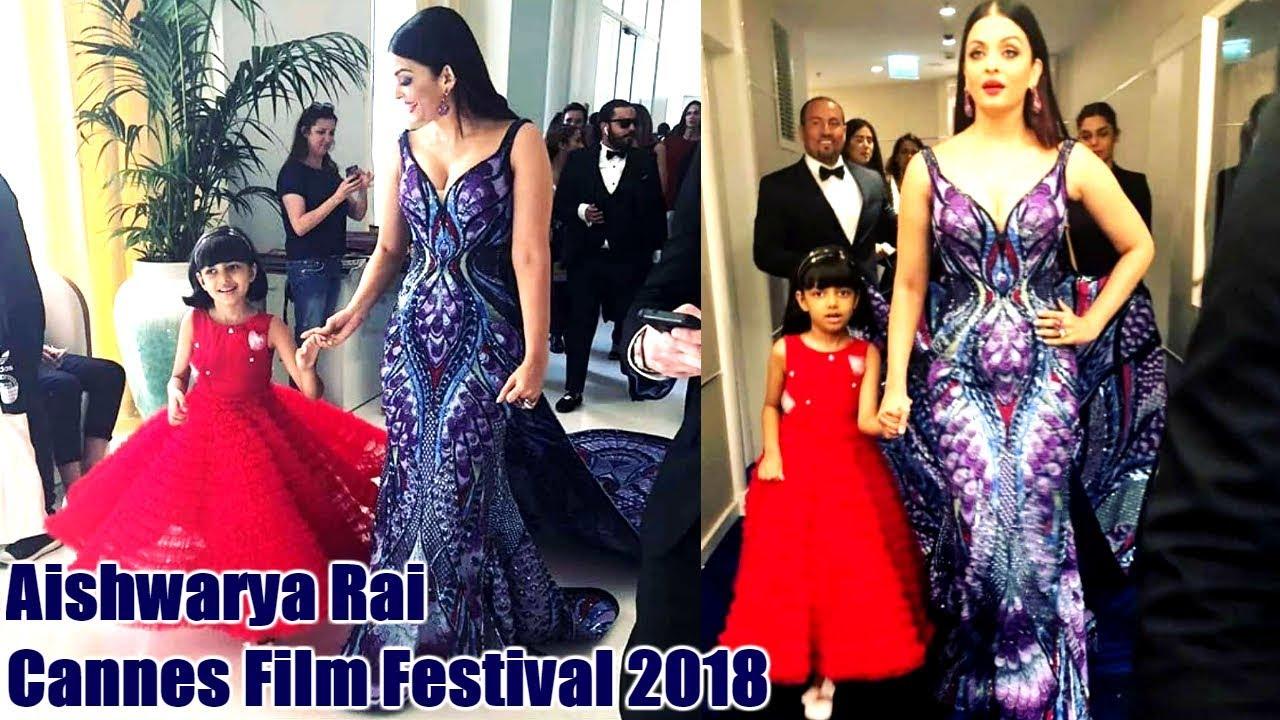 Aishwarya Rai With Cute Daughter Aaradhya At Cannes Film Festival