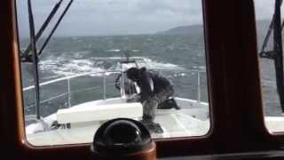 Nordhavn 55 in rough water