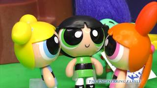 POWERPUFF GIRLS + TROLLS Branch is Tricked by PJ Masks Romeo Funny Kids Video