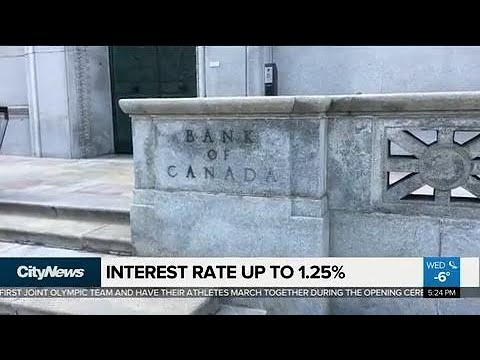 Business Report: Bank of Canada hikes interest rate up to 1.25%
