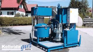GERTEC: IS-100-E grout plant, anchor injection, colloidal mixer, grouting