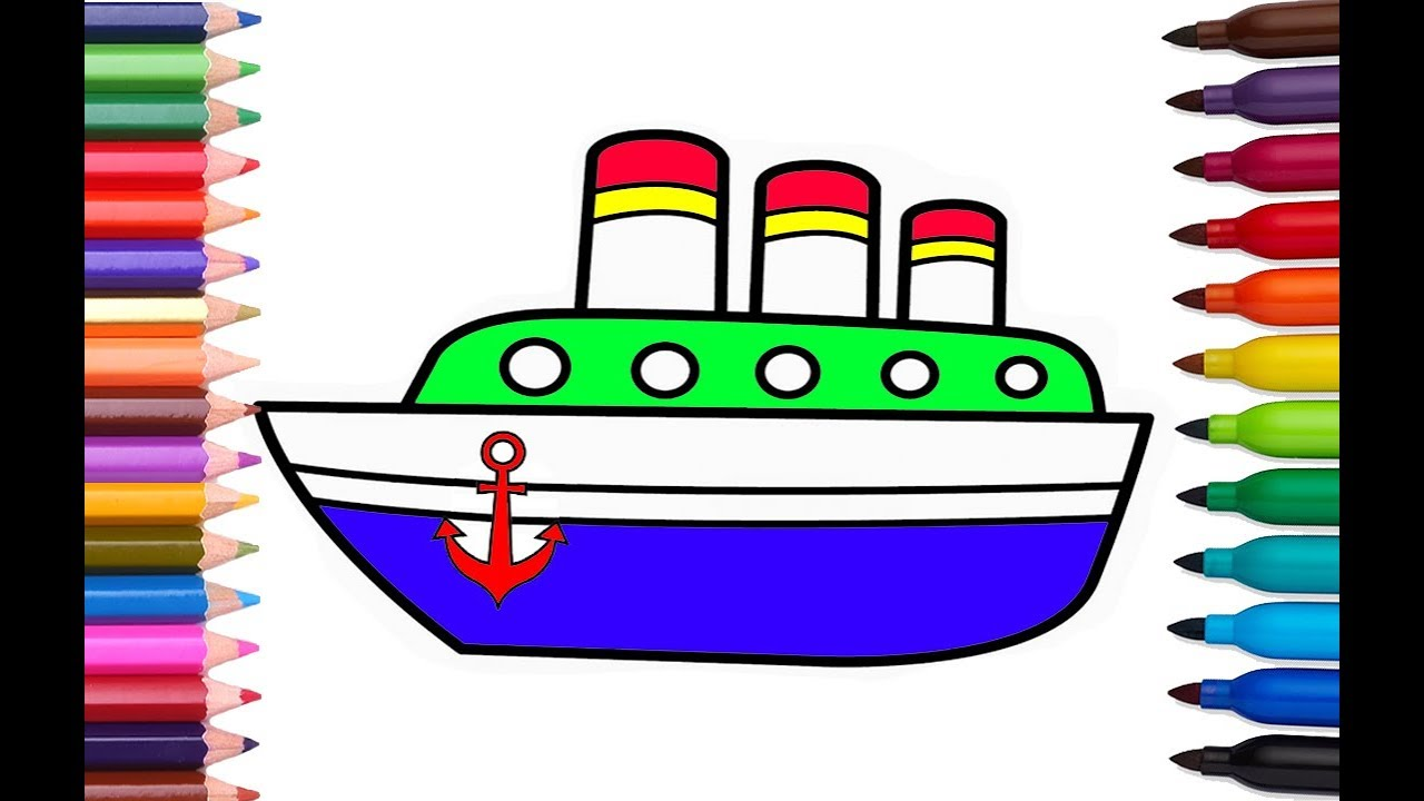anchor coloring pages for kids - photo#35