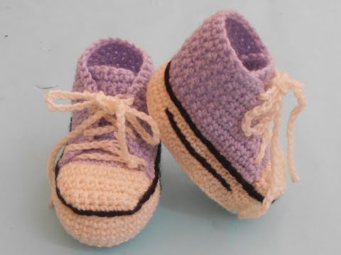 crochet sneakers/converse booties