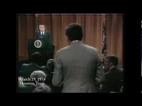 Dan Rather vs. Richard Nixon, 1974