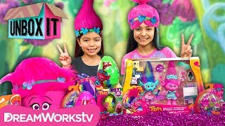 Poppy's Sparklin Scrapbook Maker + More SWEET Toys with KidToyTesters | Trolls Presents UNBOX IT