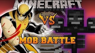 WITHER BOSS VS WOLVERINE - Minecraft Mod Battle - Mob Battles - Superheroes Unlimited Mods