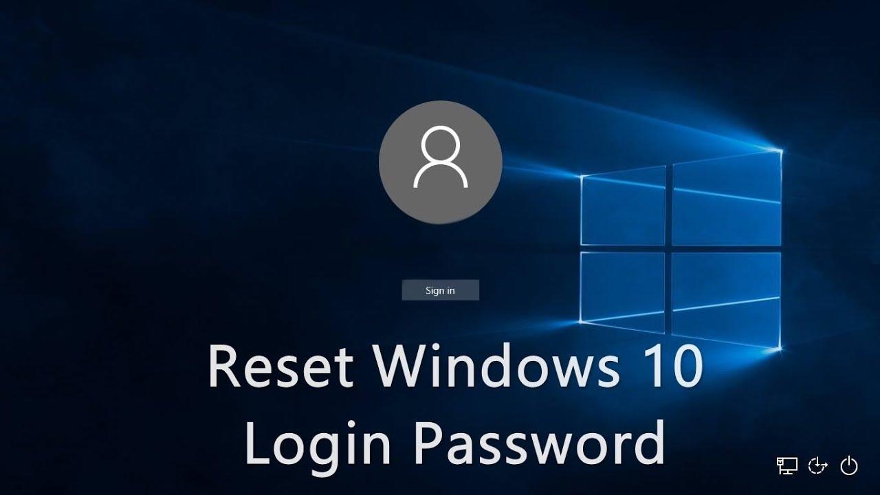 windows 10 user password reset
