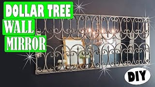 Dollar Tree DIY Wall Mirror Room Decor