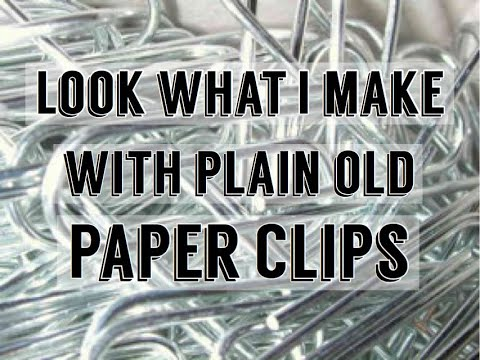 Paper Clip Charms - Paper clip beads - Paper to Masterpiece