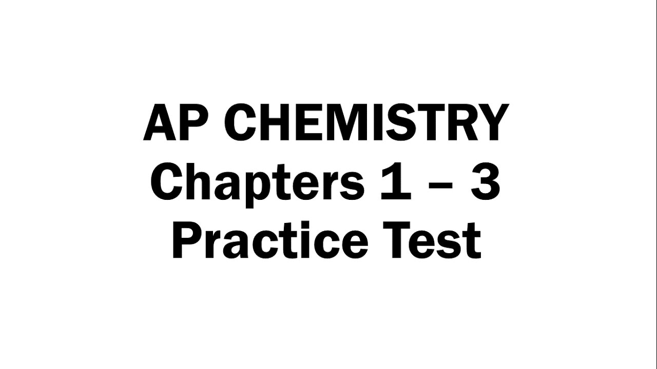 Chapters 1 - 3 Practice Test - YouTube