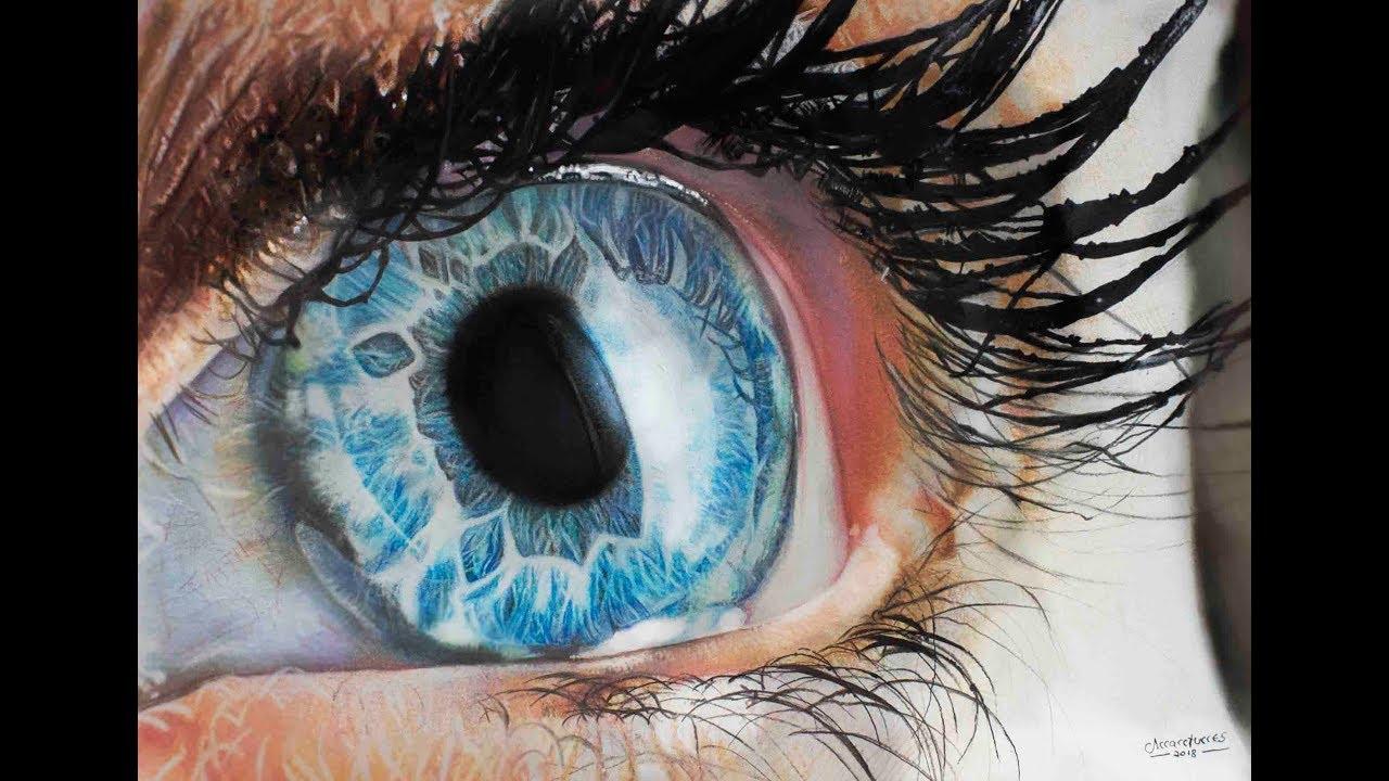 Desenhando Um Olho Mega Realista Timelapse Realistic Eye Youtube
