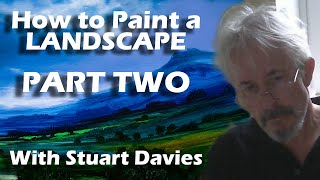 How to Paint a Landscape in Oils In One Hour - Continued