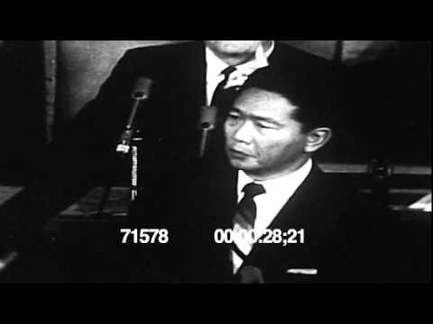 Philippine Pres Ferdinand Marcos speech at the US Congress 1966