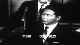 Philippine Pres Ferdinand Marcos speech at the US Congress 1966