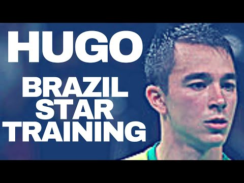 TRAINING WITH CALDERANO HUGO TABLE TENNIS - Practice Serve, Backhand, Forhand, Slow Motion