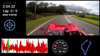 GoPro 3 mount on a Sylva J15 track car