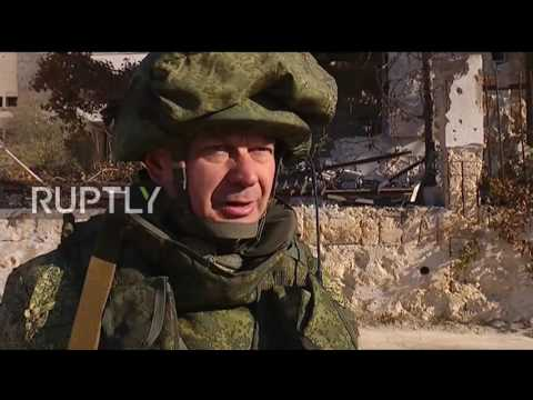 Syria: Russian sappers continue clearing east Aleppo of mines