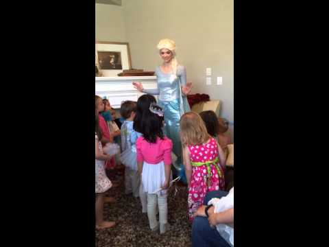 Ksenia's frozen party~ Elsa singing
