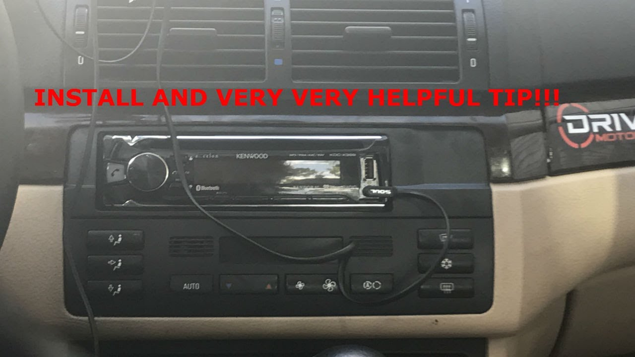 bmw e46 aftermarket radio install helpful tips [ 1280 x 720 Pixel ]