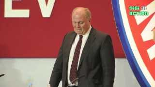 Uli Hoeneß weint auf der Jahreshauptversammlung 2013 des FC Bayern München (long version)