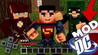 LANÇOU MOD DC SUPER HEROES FLASH, SUPERMAN E ARQUEIRO VERDE PARA MINECRAFT PE 1.0.5
