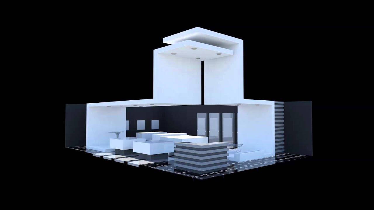 Modelado de stand 3d max youtube for Design de stand