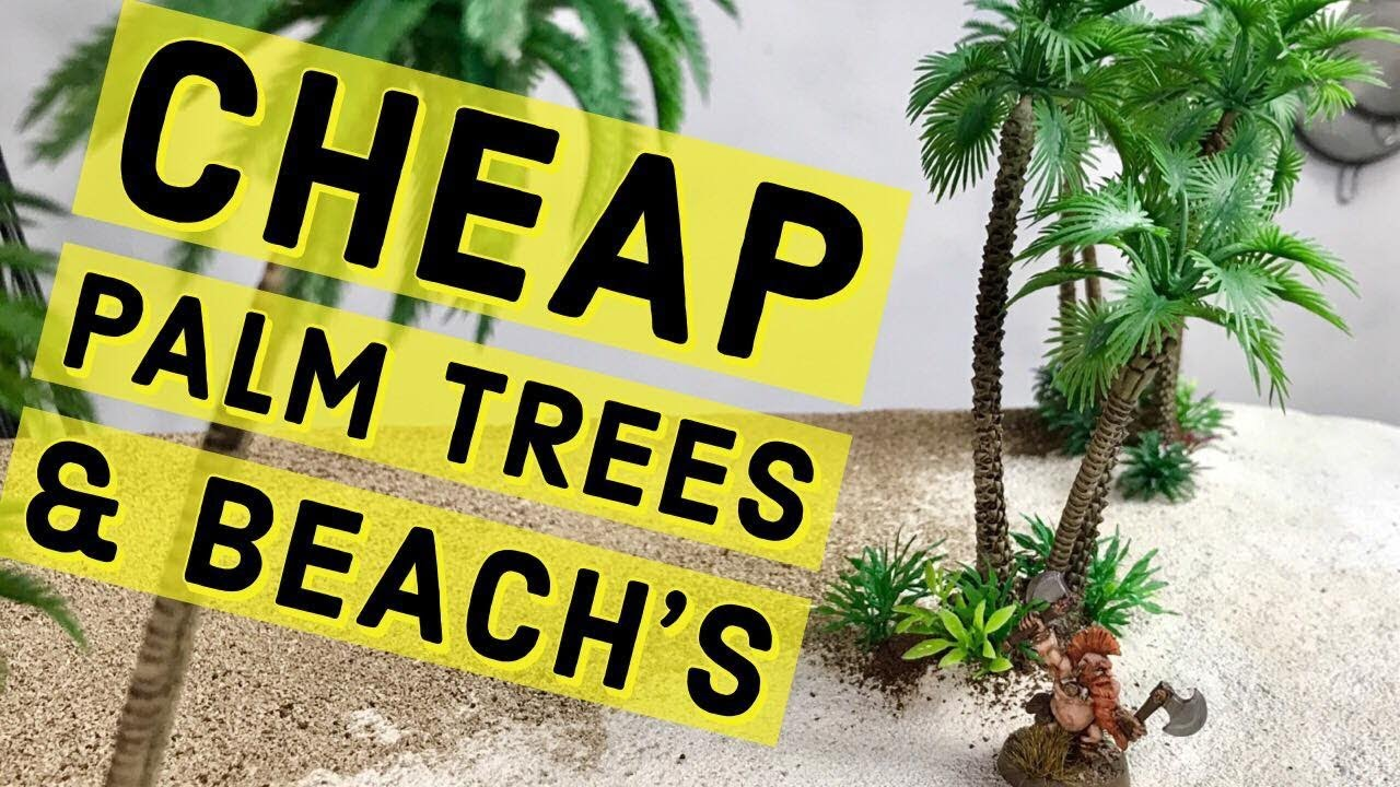 🌴Cheap Palm Trees & White Sands🏝️ for your Wargaming Table