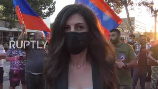 USA: Armenian community protests Nagorno-Karabakh conflict in Glendale