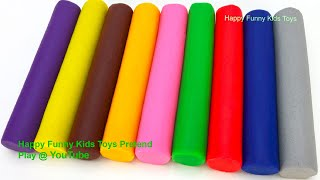 Learn Colors with Play Doh Modelling Clay Animal Molds Surprise Toys