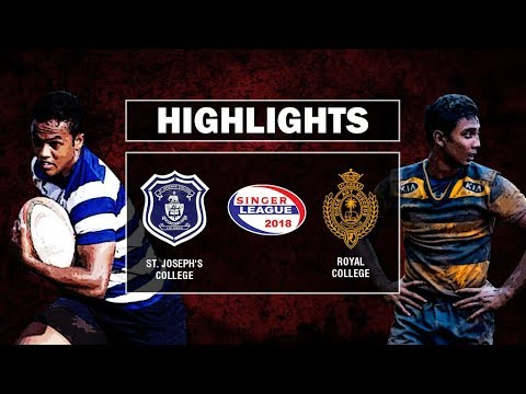 Match Highlights - St. Joseph's College v Royal College Schools Rugby #20