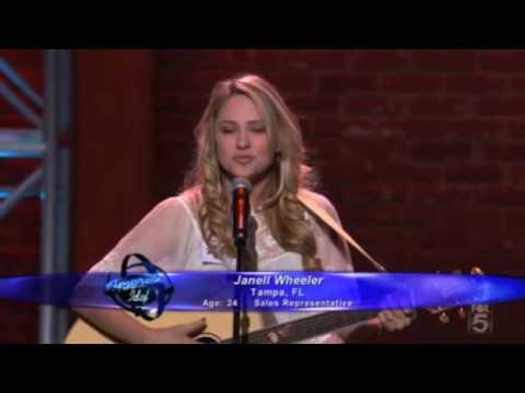 "AMERICAN IDOL 9 contestant Janell Wheeler performing ""American Boy"" (Hollywood Week: Round 1)"