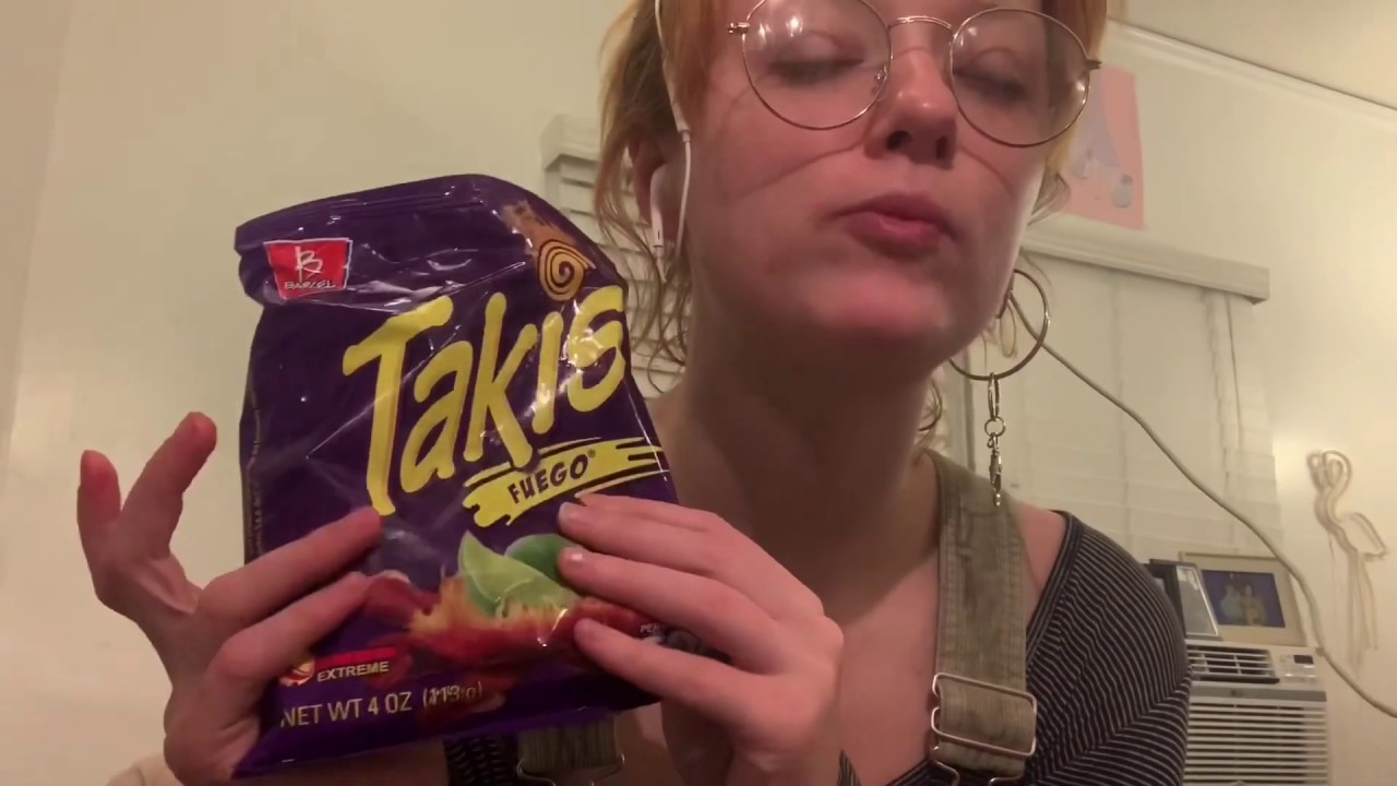 Eat hot chip and lie ASMR - YouTube