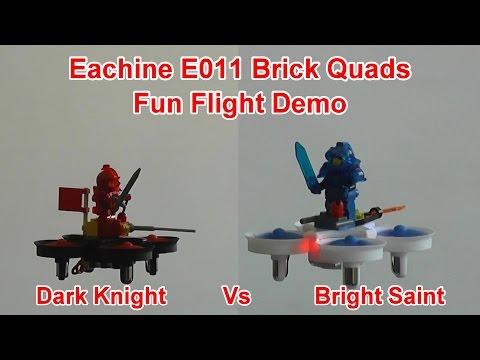 Dark Knight Vs Bright Saint Eachine E011 Toy Brick RC Drones