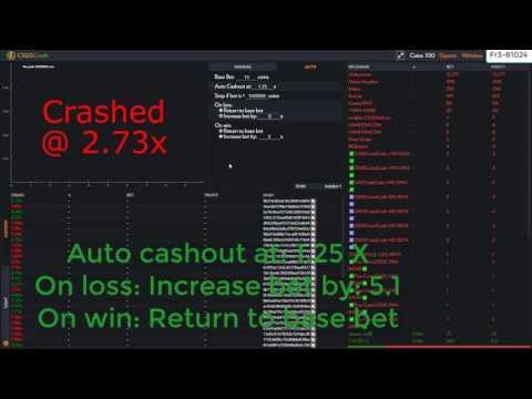CSGO Crash | How to make profit on csgocrash.com | Auto betting
