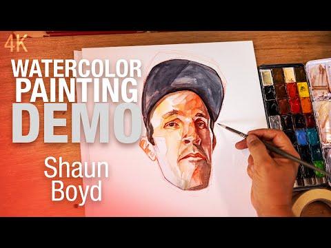 🎨🪑 Demo Aquarelle   Portrait de Shaun Boyd