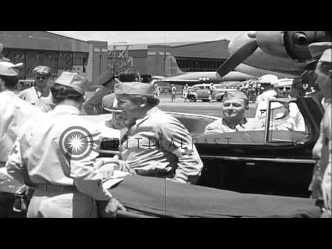 President Franklin D. Roosevelt at Hickam Field and at Alea Naval Hospital in Haw...HD Stock Footage