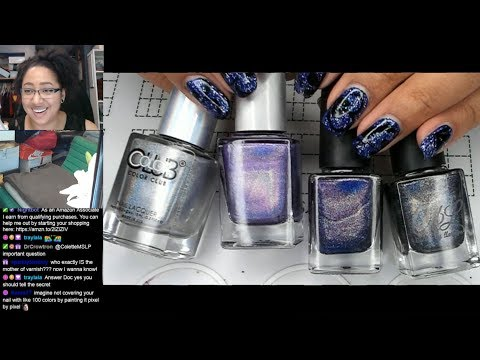 Nail Polish Testing | Purple Holo Staggered Gradient Extended Nail Art Tutorial [Streamed 7/13/19] thumbnail
