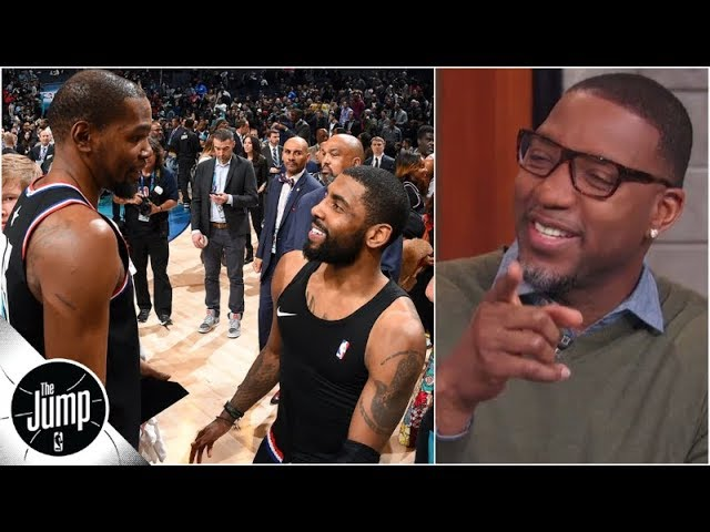 Kyrie Irving-Kevin Durant images make Tracy McGrady go 'hmmm' | The Jump