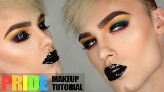 RAINBOW & GLITTER | Dark & Edgy PRIDE Makeup Tutorial