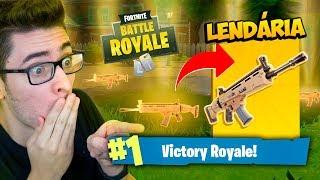 ENCONTREI A MELHOR LENDÁRIA DO JOGO! Fortnite: Battle Royale