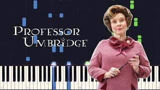 Synthesia - Professor Umbridge (Harry Potter 5) [PIANO TUTORIAL + SHEET MUSIC]