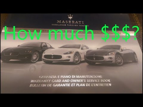 How Much Does It Cost To Maintain The Maserati Youtube