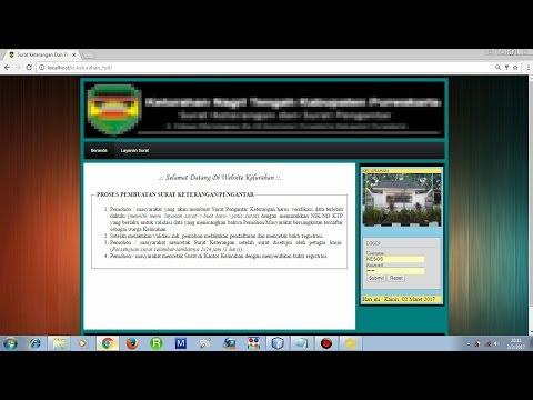 [Demo] Web Pembuatan Surat Keterangan Dan Pengantar Di Kelurahan (E-KELURAHAN) PHP & Mysql