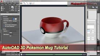 AutoCAD Pokemon Mug Tutorial | Basic 3D Modeling