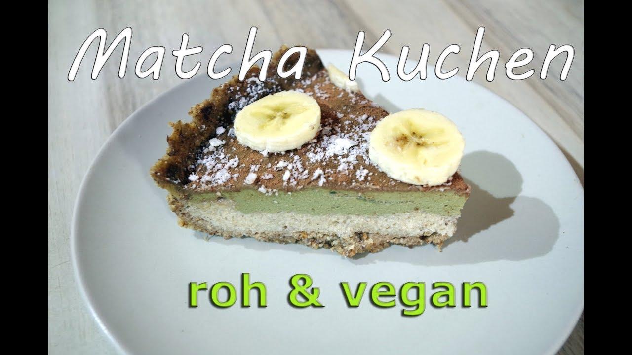 Rohkost Matcha Kuchen Glutenfrei Zuckerfrei Gesund Vegan