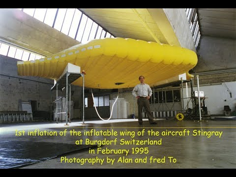 1st Inflation of the prototype wing of Stingray.