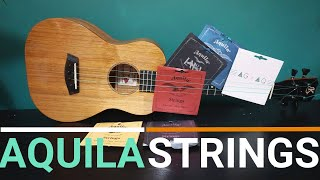 AQUILA UKULELE STRINGS - IN DEPTH (6 high G sets compared with samples)
