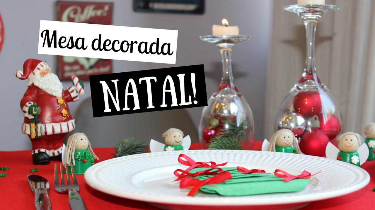 Mesa de NATAL Ideias de decoraç u00e3o YouTube