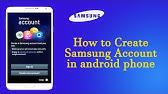 How To Create Samsung Account Youtube